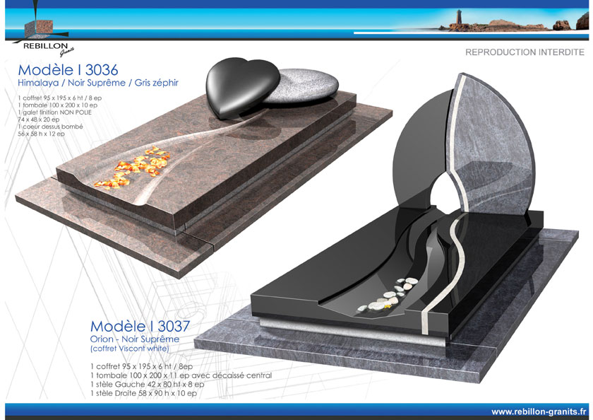 modele i 3036 et i 3037 monument funeraire r billon granits le sp cialiste du granit en. Black Bedroom Furniture Sets. Home Design Ideas